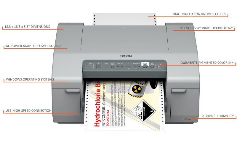 See the C831 diagram for this printer's features