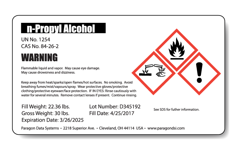 GHS labels from Paragon: guaranteed safe and compliant